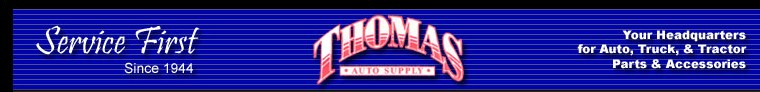 Welcome to Thomas Auto Supply